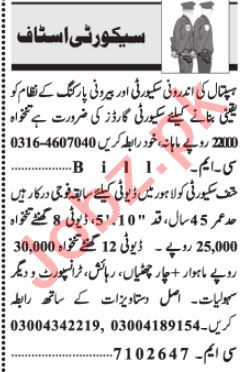Security Coordinator & Security Guard Jobs 2021 in Quetta