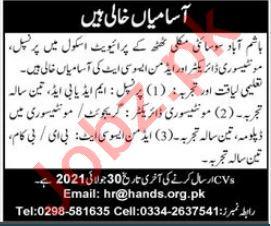 Muslim Hands School of Excellence Thatta Jobs 2021