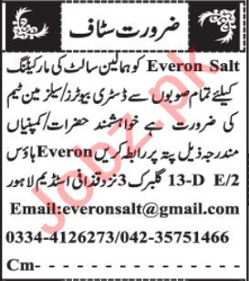 Sales Officer & Marketing Executive Jobs 2021 in Lahore