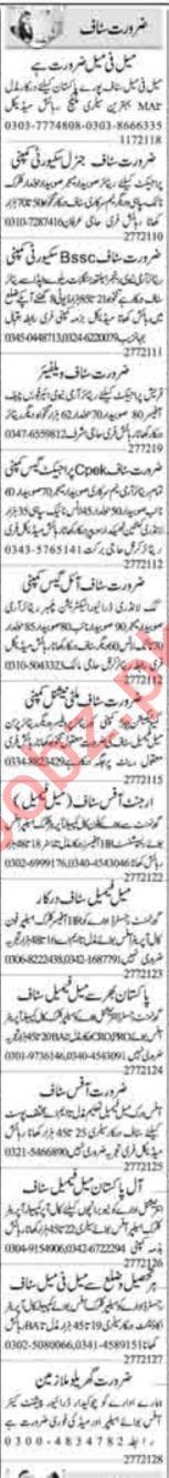 Computer Operator & Receptionist Jobs 2021 in Islamabad