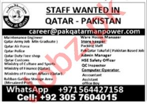 Maintenance Engineer & Ware House Manager Jobs 2021