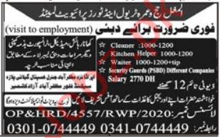 Cleaner & Kitchen Helper Jobs 2021 in Dubai