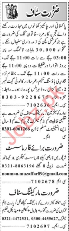 Account Manager & Sales Manager Jobs 2021 in Lahore