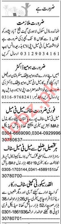 Computer Operator & Telephone Operator Jobs 2021 in Peshawar