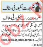 Security Incharge & Security Executive Jobs 2021 in Lahore