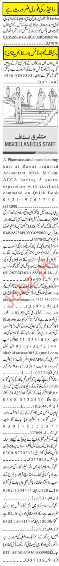 Assistant Manager & Sales Manager Jobs 2021 in Islamabad
