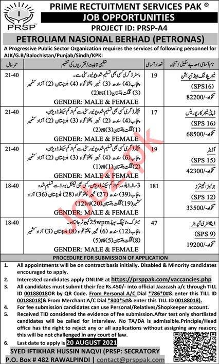 Prime Recruitment Services Pakistan PRSP Rawalpindi Jobs