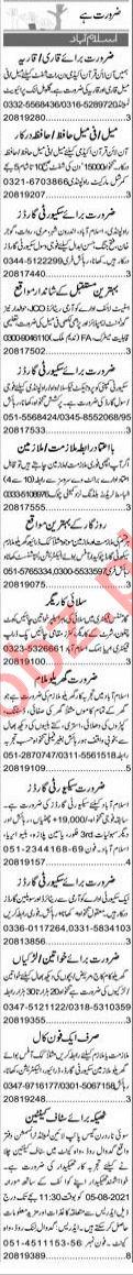 Quran Teacher & Tailor Master Jobs 2021 in Islamabad