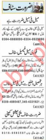 Accounts Manager & Garments Manager Jobs 2021 in Lahore