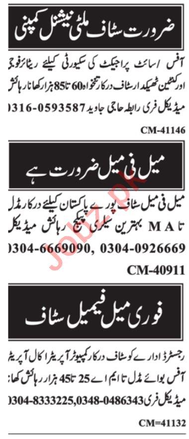 Computer Operator & Assistant Supervisor Jobs 2021 Islamabad