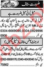 Sales Manager & HR Officer Jobs 2021 in Lahore