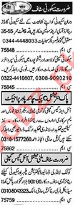 Security Chief & Security Incharge Jobs 2021 in Lahore