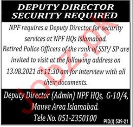 National Police Foundation NPF Jobs 2021 for Deputy Director