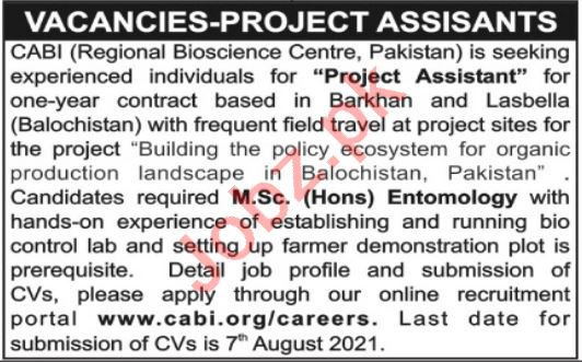 Centre for Agriculture & Bioscience International CABI Jobs