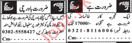 House Staff Jobs 2021 in Quetta