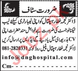ENT Specialist & Medical Officer Jobs 2021 in Quetta