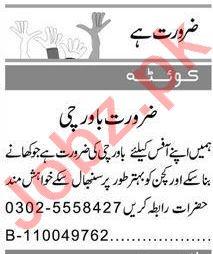 Domestic Staff Jobs 2021 in Quetta