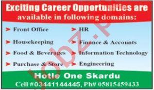 Hotel One Skardu Jobs 2021 for Finance Officer