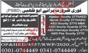 Kitchen Helper & Security Guard Jobs 2021 in Dubai