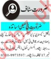 Teacher & Section Head Jobs 2021 in Peshawar
