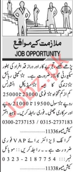 Assistant Manager & Branch Manager Jobs 2021 in Karachi