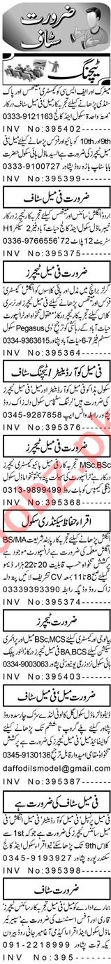 Teacher & Vice Principal Jobs 2021 in Peshawar