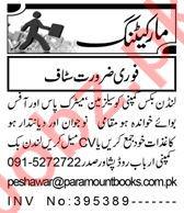 Telemarketing Executive & Sales Manager Jobs 2021 Peshawar