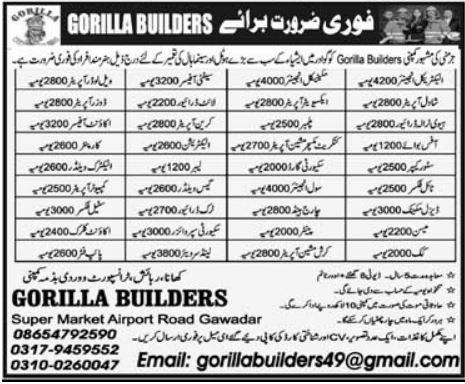 Gorila Builders Jobs 2021 in Saudi Arabia