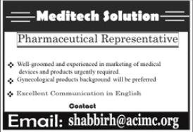 Meditech Solutions Jobs 2021 in Karachi