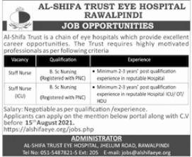 AL Shifa Trust Eye Hospital Jobs 2021