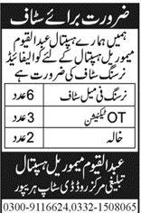Abdul Qayyum Memorial Hospital Jobs 2021 In Haripur KPK