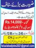 Office Workers Jobs 2021 In Faisalabad