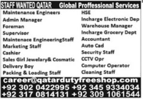 Global Professional Services Jobs 2021 In Qatar