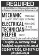 Telecom Sector Jobs 2021 in Rawalpindi