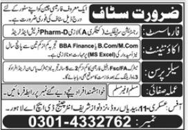 Pharmacy Chain Jobs 2021 In Lahore