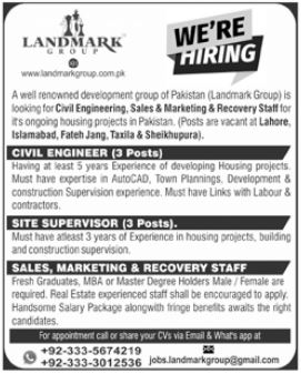 Landmark Group Jobs 2021 in Islamabad