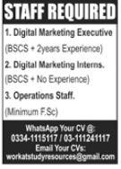 Digital Marketing Executive Jobs 2021 in Islamabad