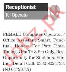 The News Sunday Classified Ads 1st August 2021 Receptionist