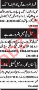 Nawaiwaqt Sunday Islamabad Classified Ads 1st August 2021