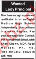 Nawaiwaqt Sunday Classified Ads 1st August 2021 for Teaching