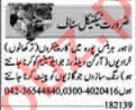 Dunya Sunday Classified Ads 1st August 2021 for Technical