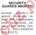 Nation Sunday Classified Ads 1st August 2021 for Security