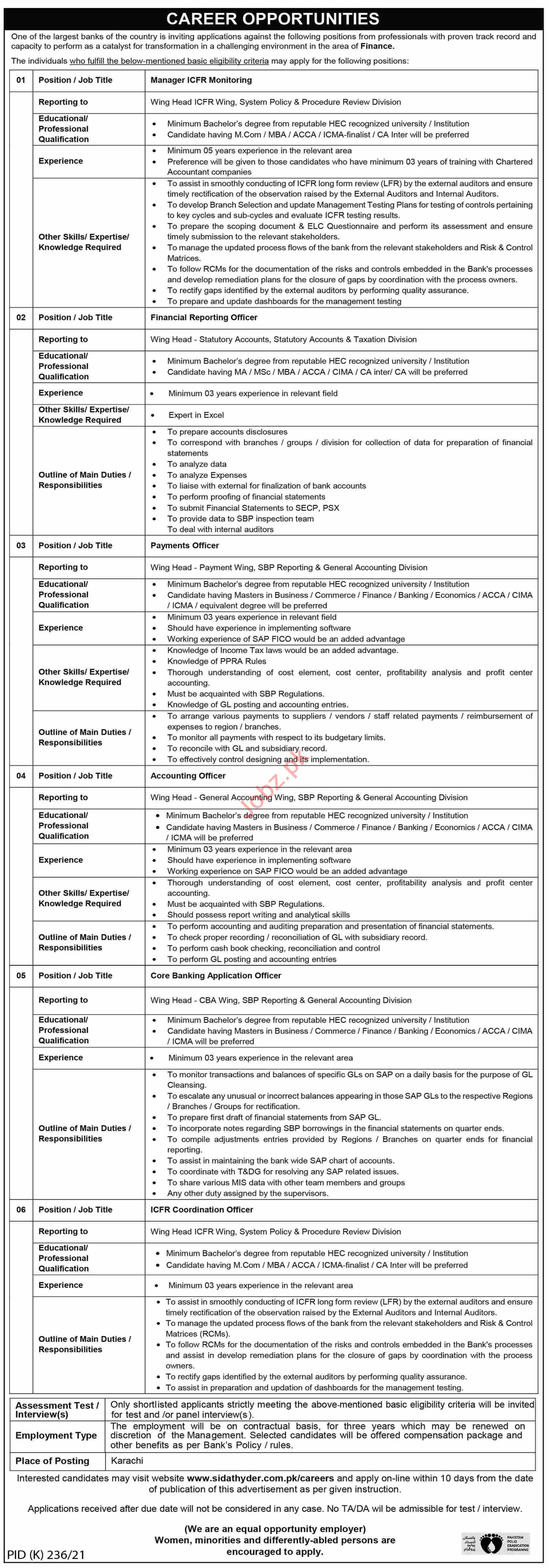 Manager ICFR Monitoring & Financial Reporting Officer Jobs