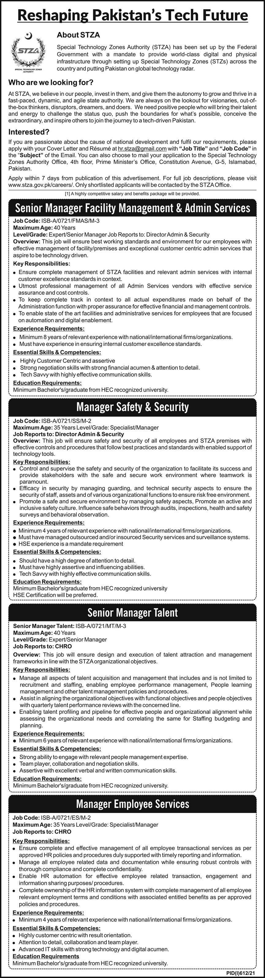 Reshaping Pakistan Tech Future Management Jobs 2021