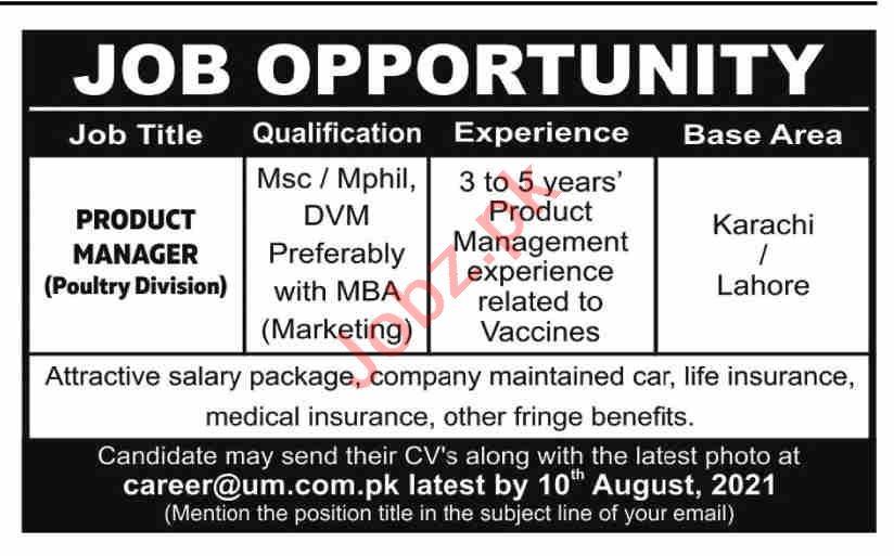 UM Enterprise Karachi Jobs 2021 for Product Manager