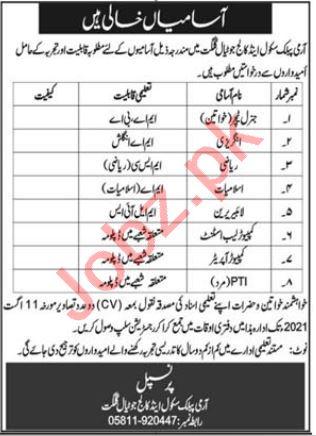 Army Public School & College APS&C Jutial Gilgit Jobs 2021