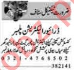 Electrician & Plumber Jobs 2021 in Lahore