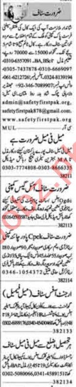 Account Manager & Marketing Staff Jobs 2021 in Multan