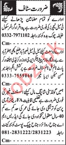 Assistant Manager & Lady Health Worker Jobs 2021 in Quetta