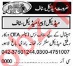 Pharmacist & Resident Medical Officer Jobs 2021 in Lahore